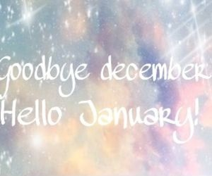 Goodbye December Hello January Greetings Cards