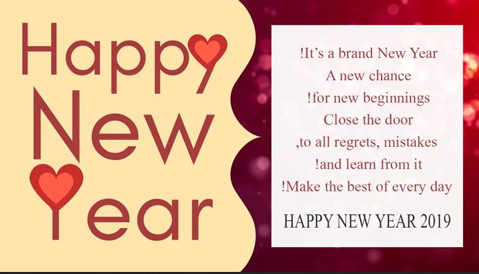 Happy New Year WhatsApp Greeting Cards 2019