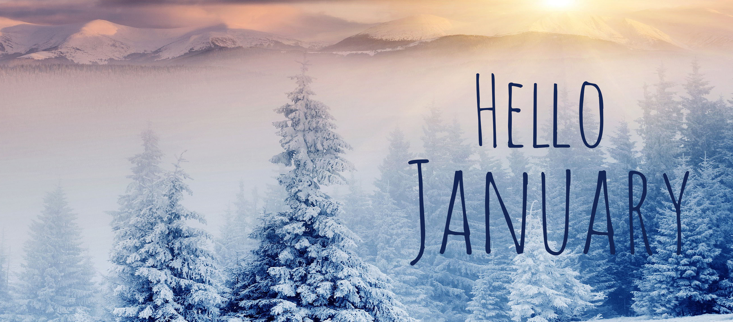Hello January Wallpaper Images