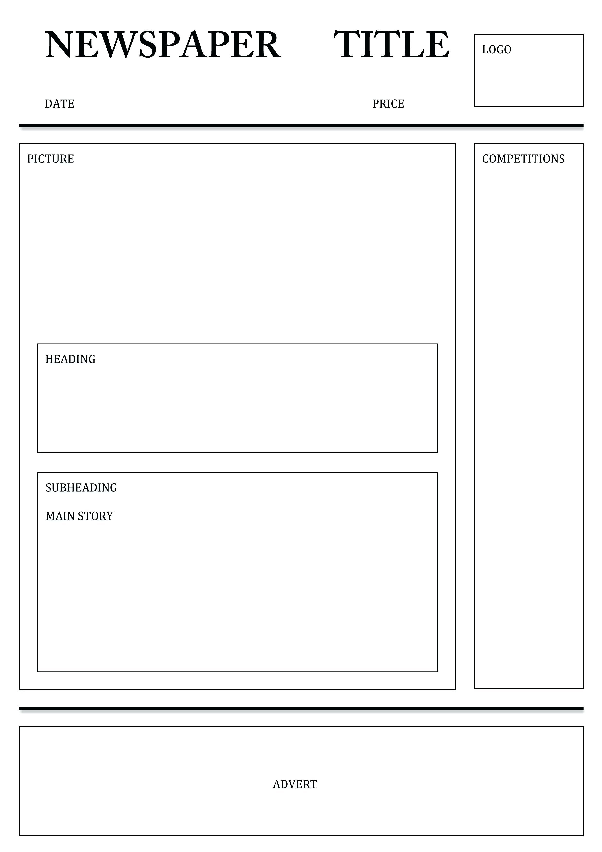 Newspaper Template for Word PDF Excel