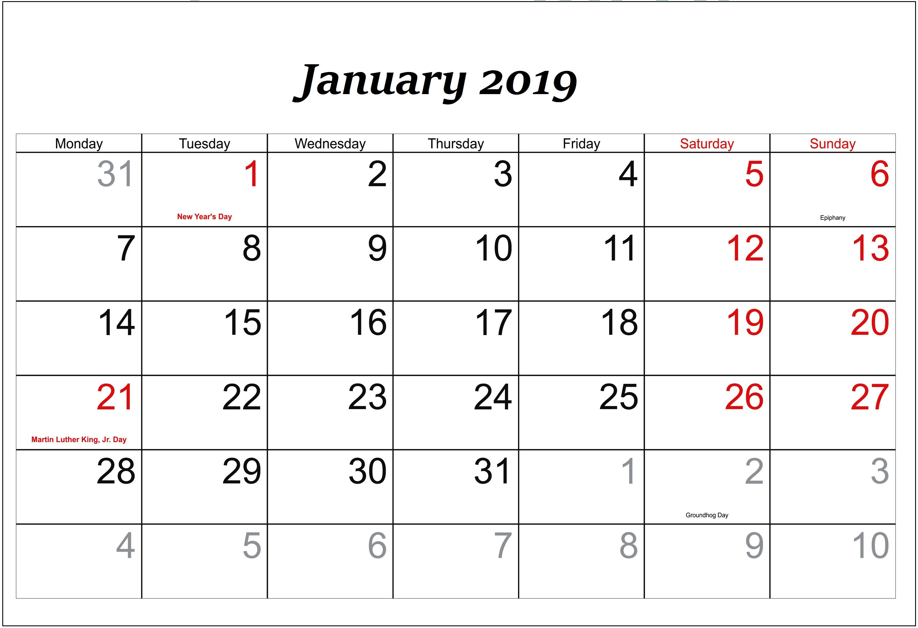 photo regarding Printable Calendar February titled Holiday seasons Calendar February 2019 - Down load Absolutely free Printable