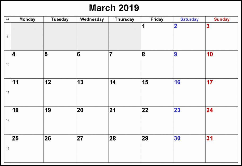 March 2019 Calendar Canada With Holidays