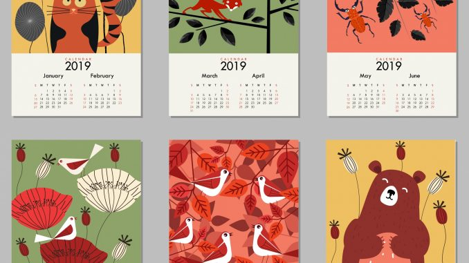 2019 HD Desktop Calendar Wallpaper