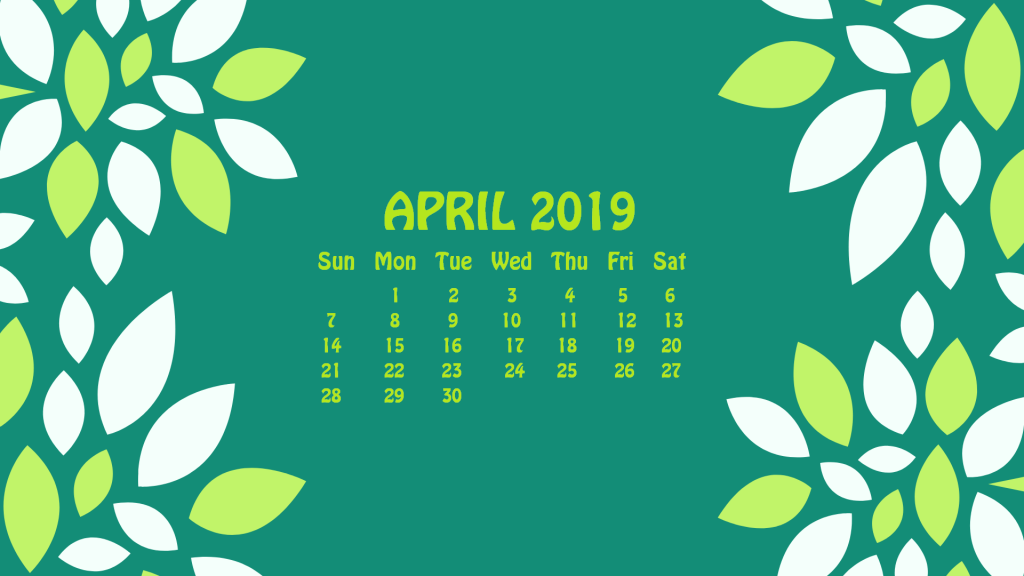 April 2019 HD Calendar Wallpaper