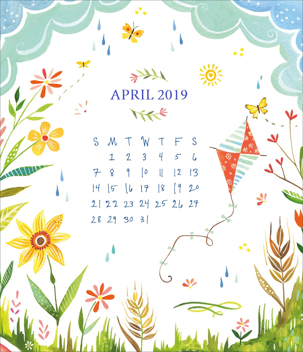 April 2019 HD Desktop Calendar Wallpaper