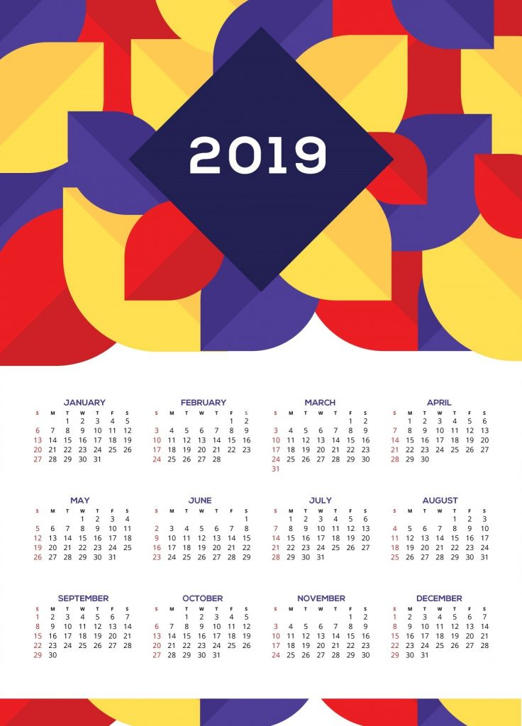 Beautiful Wall Calendar 2019