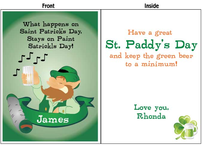 Cute St Patricks Day Cards