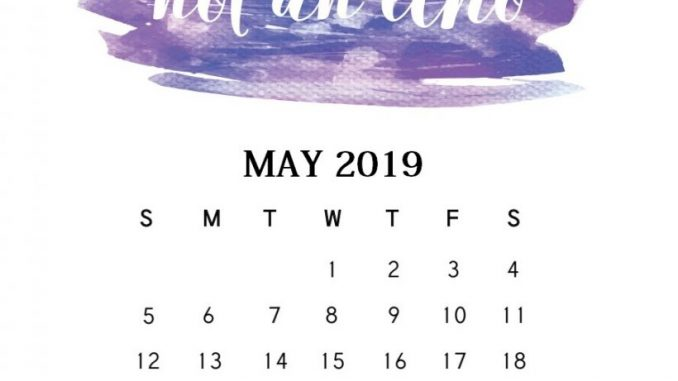 Inspirational May 2019 Quotes Calendar