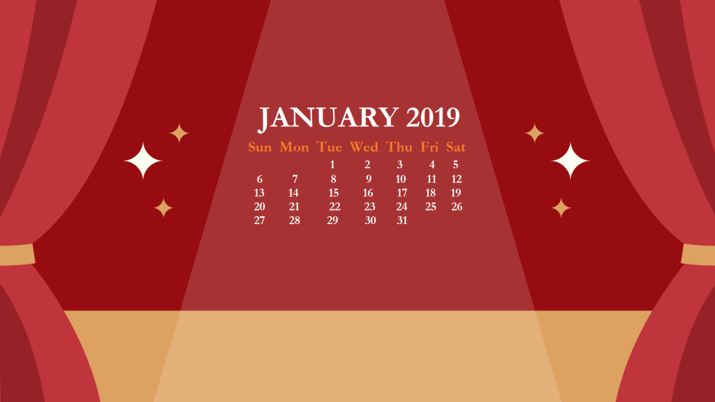 January 2019 HD Calendar Wallpaper