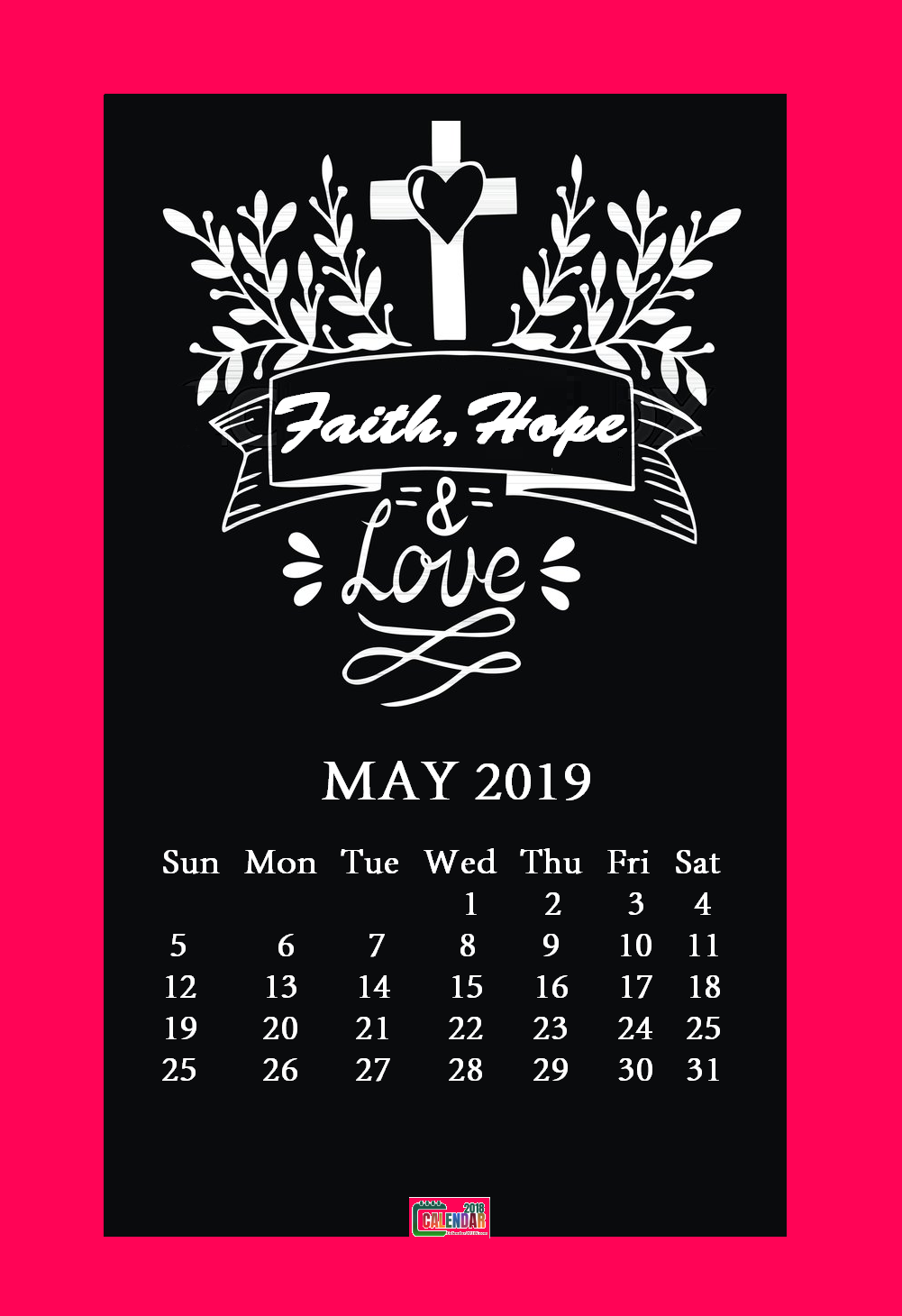 May 2019 Motivational Quotes Calendar