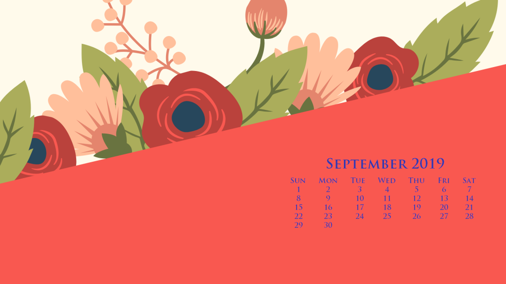 September 2019 HD Calendar Wallpaper