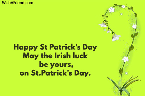 St Patricks Day Messages
