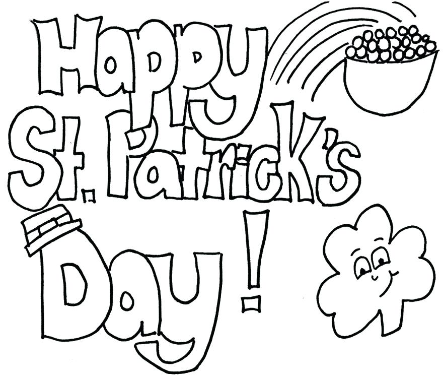St Patricks Day Pictures Coloring Pages