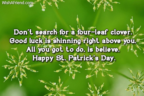 St Patricks Day Wishes Text