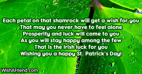 St Patricks Day Wishes