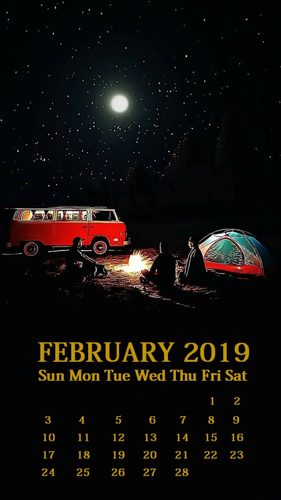 iPhone February 2019 Calendar Wallpaper