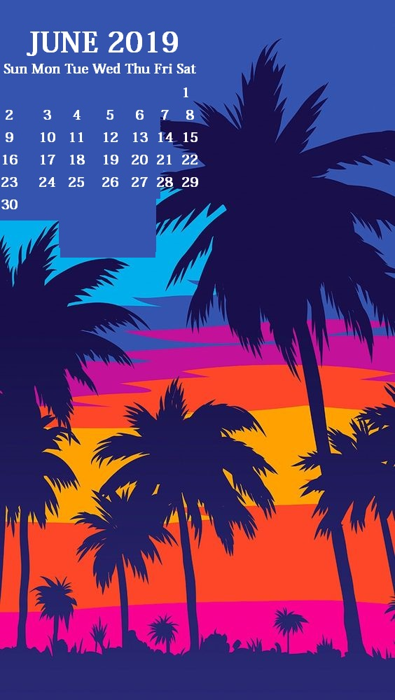 iPhone June 2019 Calendar Wallpaper
