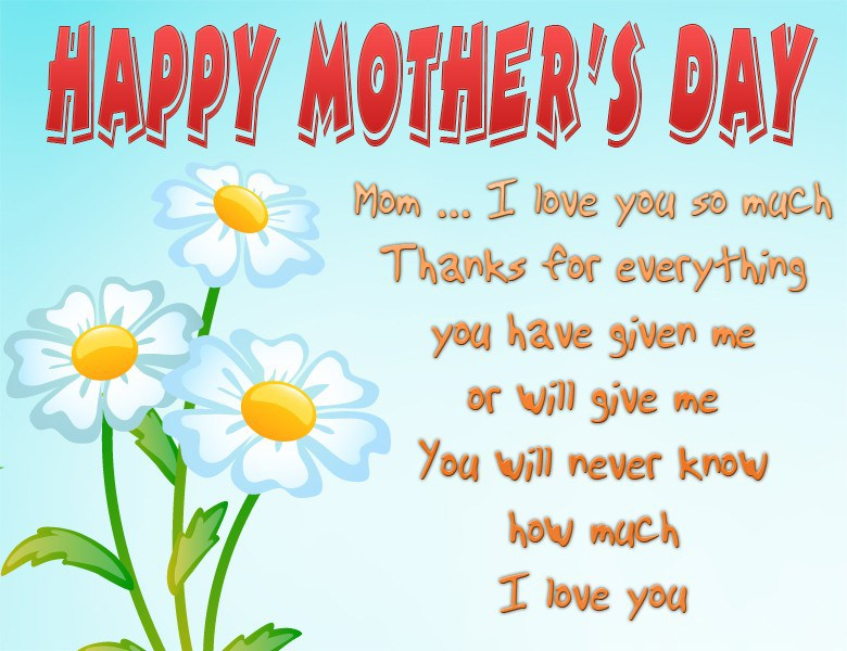 Cute Mothers Day Card Template