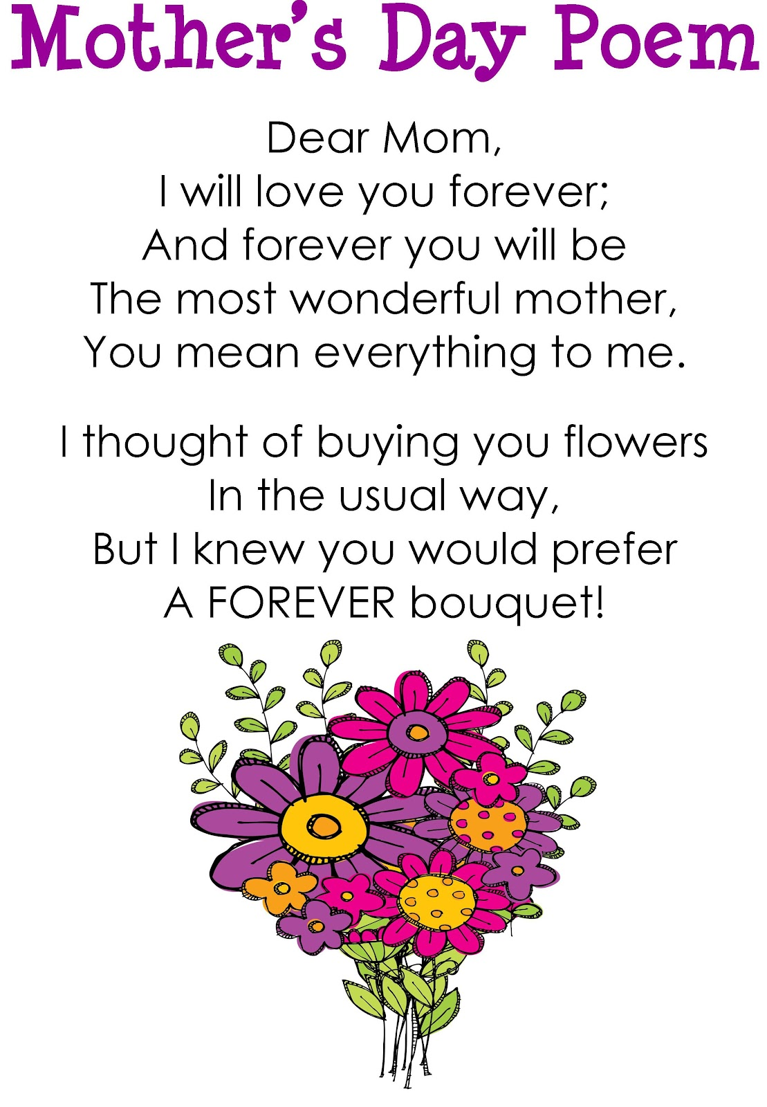Cute Mothers Day Poem Quotes