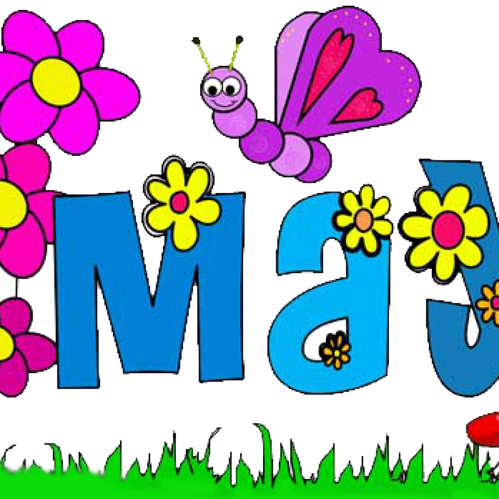 May Flowers Clip Art Image