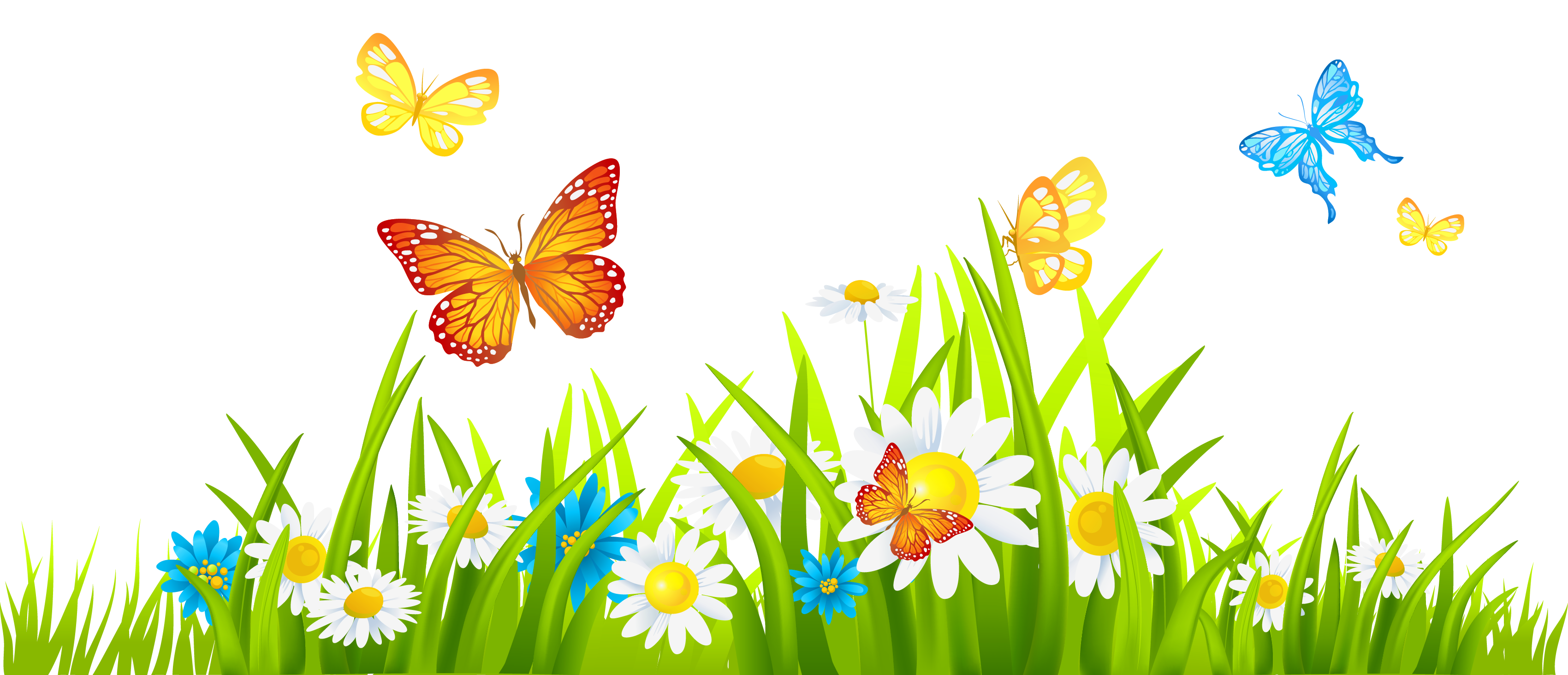 May flowers border clip art