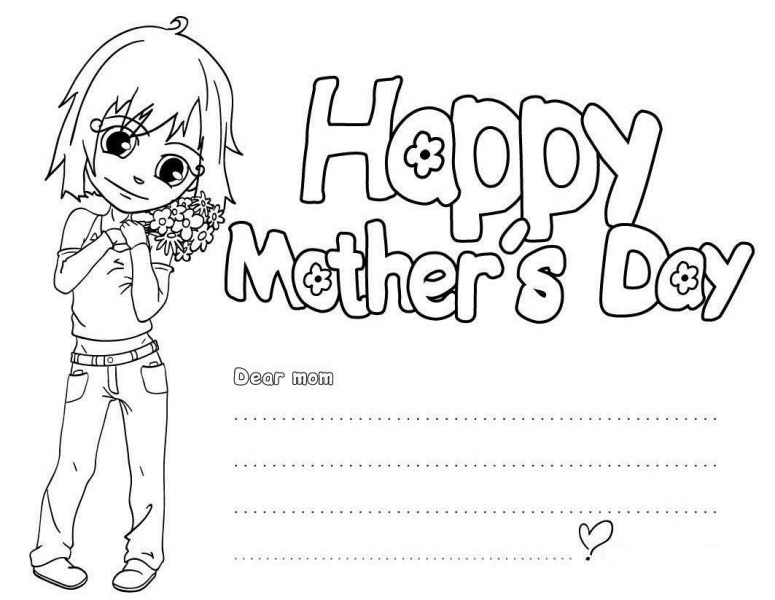 Mothers Day Cards Black and White