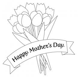 Mothers Day Clipart Black and White
