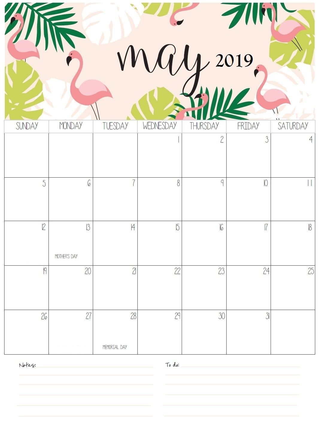 fillable may 2019 printable calendar template