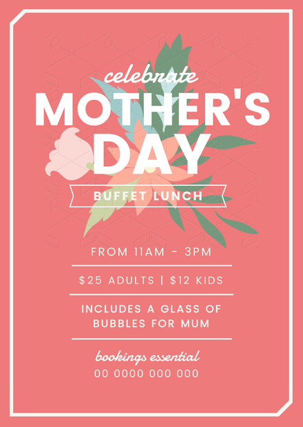 Celebrate Mother's Day Poster