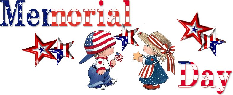 Charming Kids Wishes You Happy Memorial Day