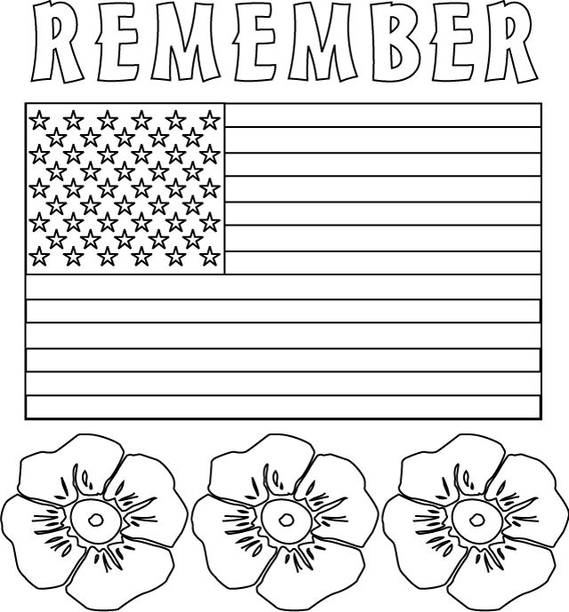 Free Coloring Pages Memorial Day