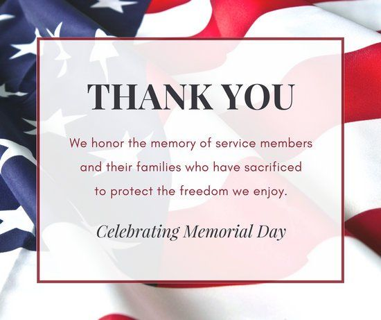Memorial Day Images Thank You