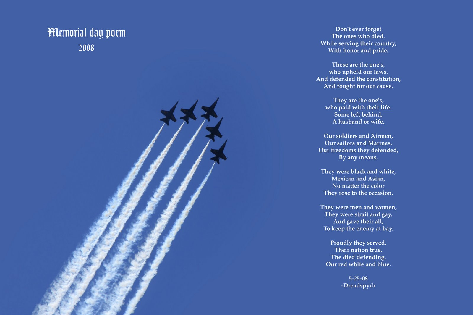 Memorial Day Poems Christian