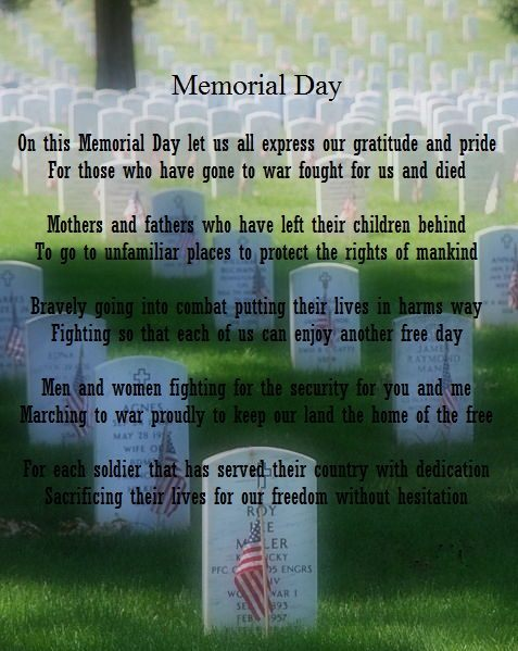 Memorial Day Poems For Toddlers