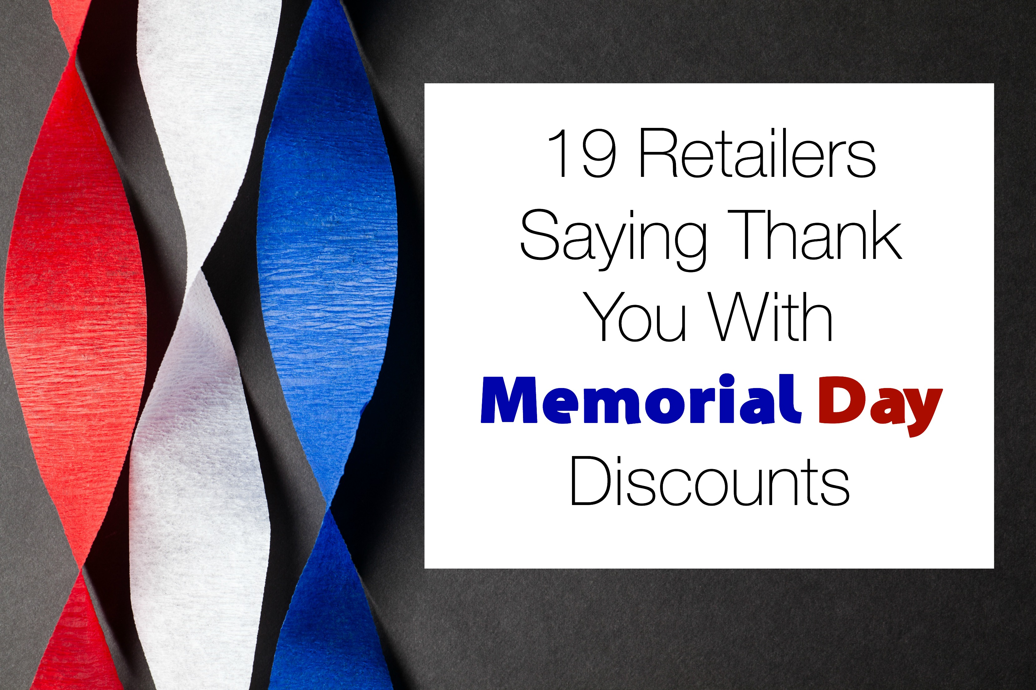 Memorial Day Saying Military Discount