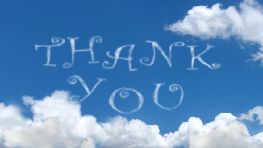 Memorial Day Thank You Written With Clouds