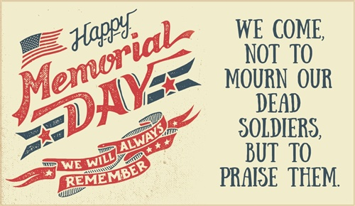 Memorial Day Wishes E-cards