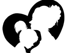 Mothers Day Clip Art Black and White