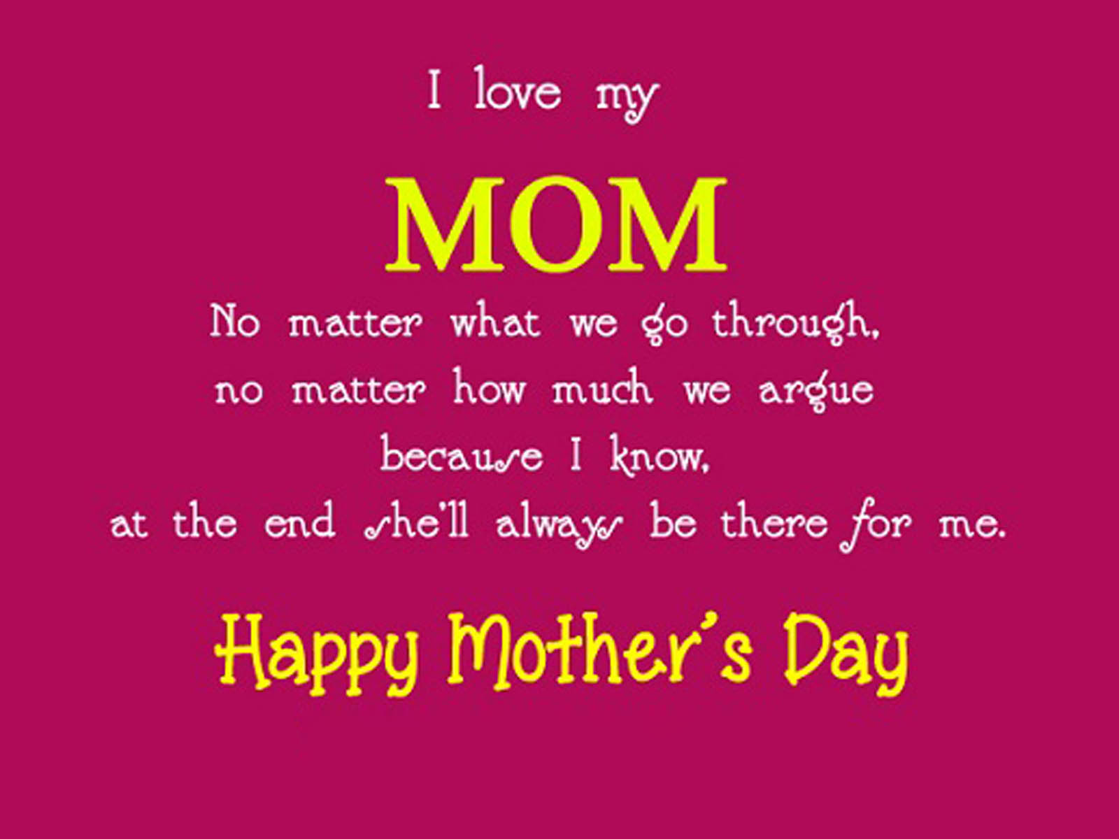 Mothers Day Cute Poems