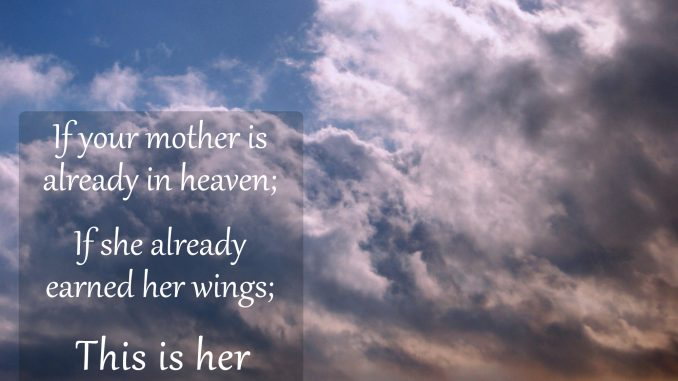 Mothers Day Message In Heaven