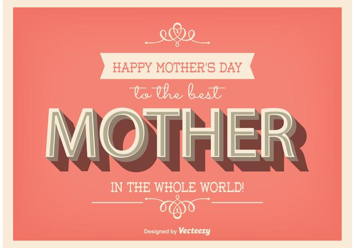 Mothers Day Poster Vector