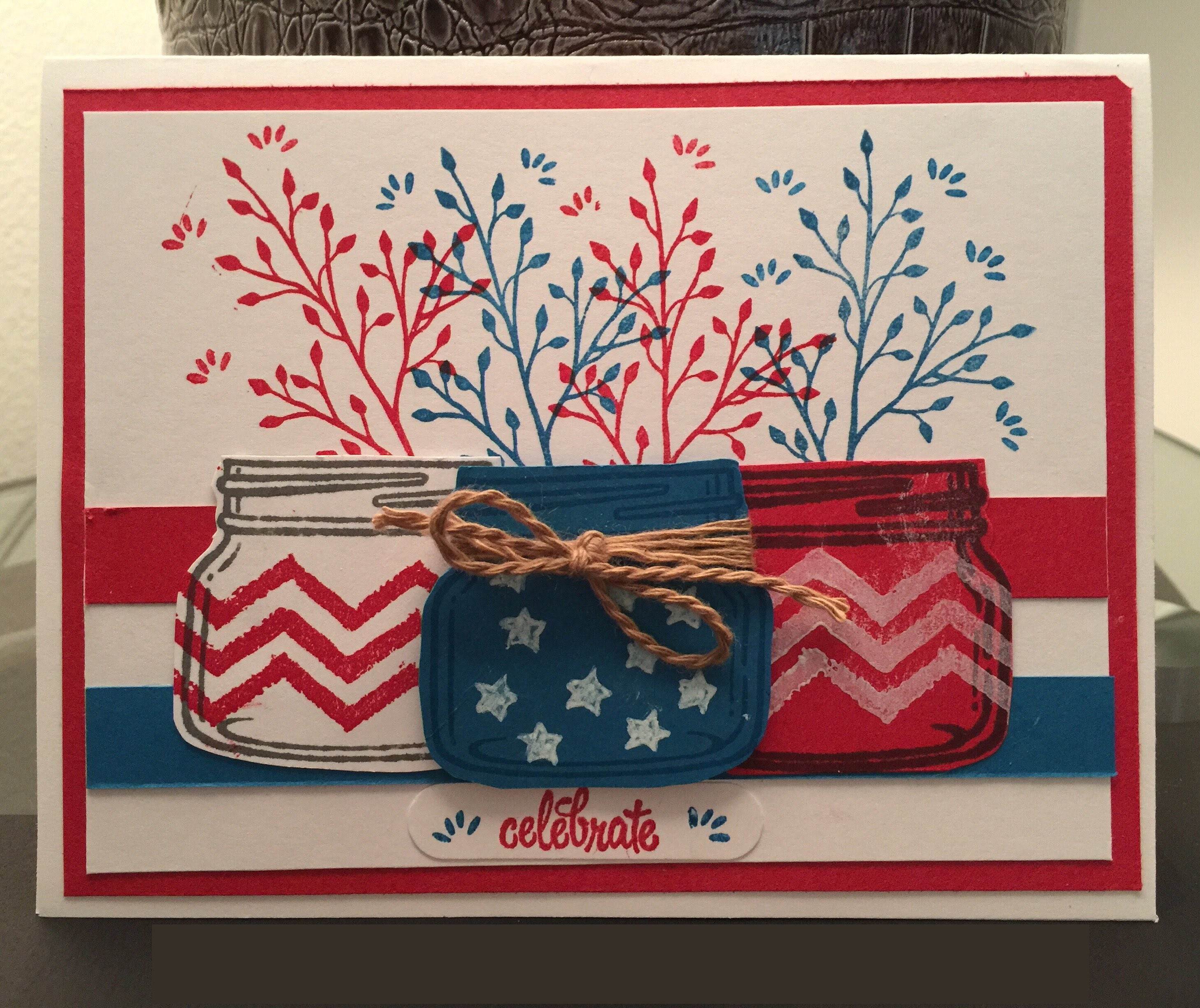 4th of July Cards Coloring Pages