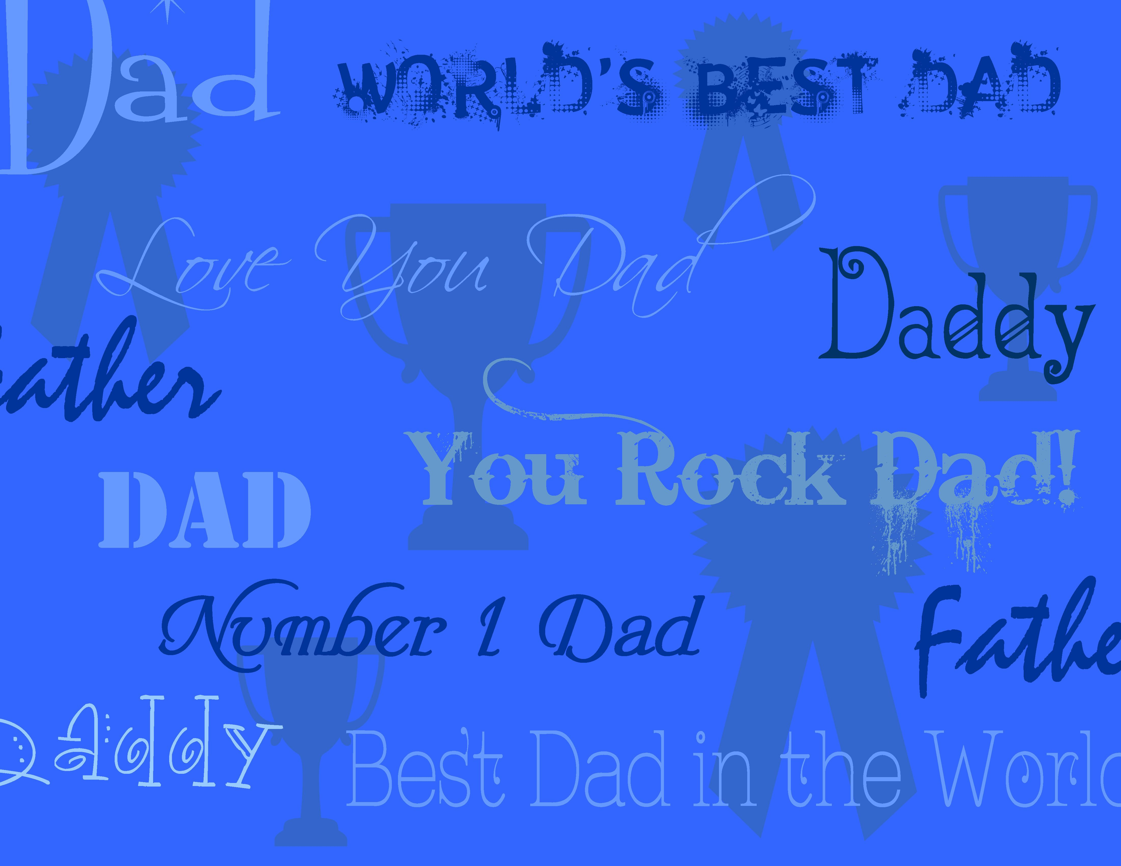 Fathers Day Background Best Dad In The World