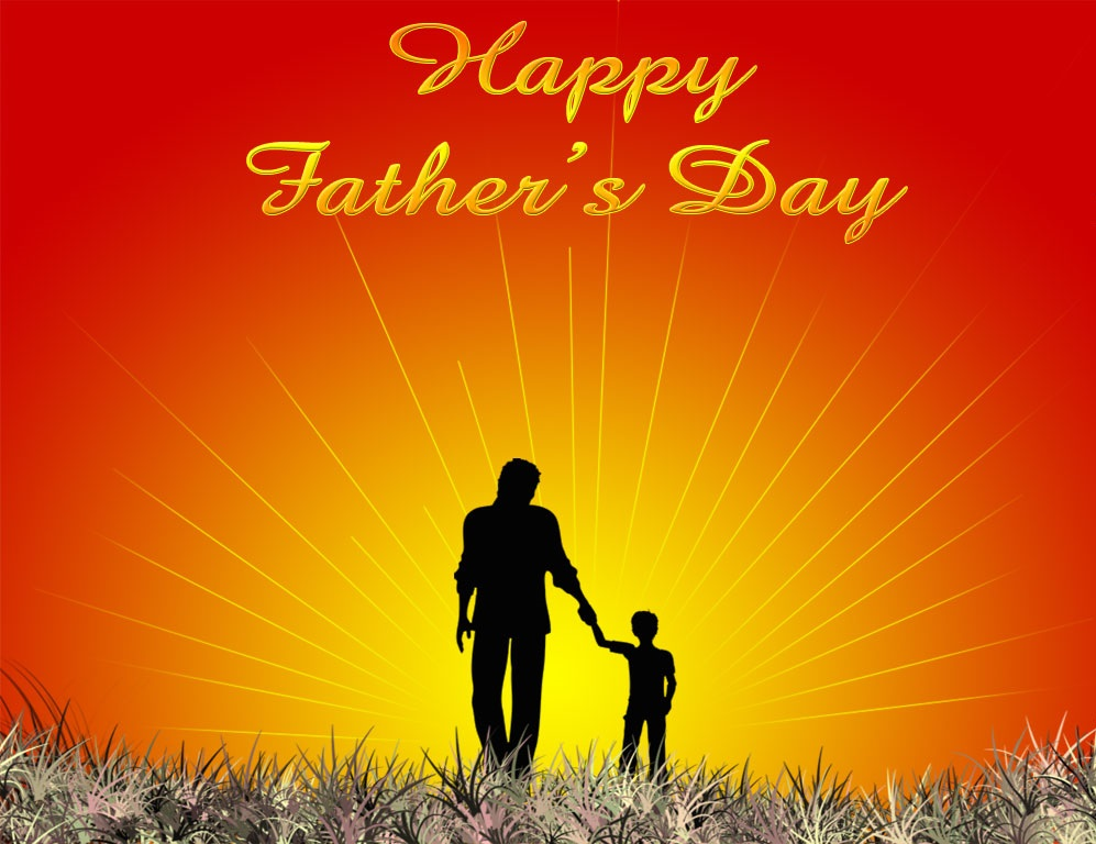 Fathers Day Background Father Walking With Son