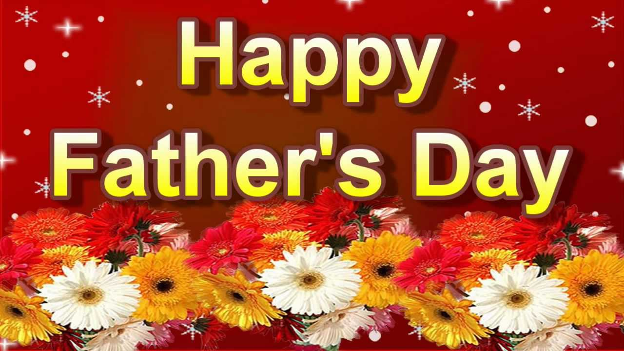 Fathers Day Greetings With Beautiful Flower