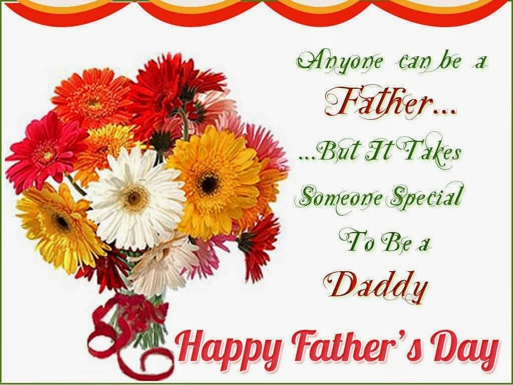 Fathers Day Greetings With Flower