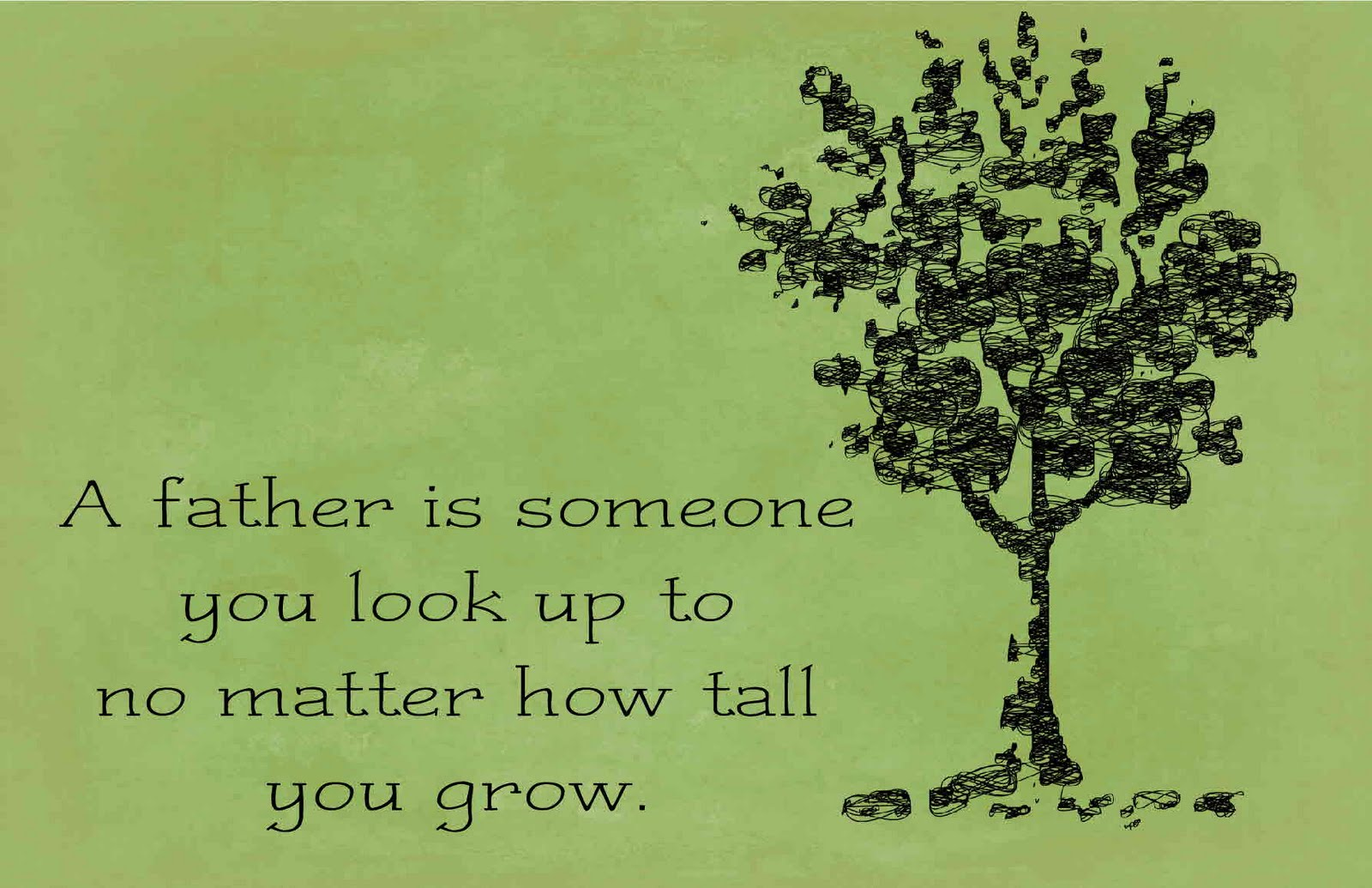 Fathers Day Quotes Green Background