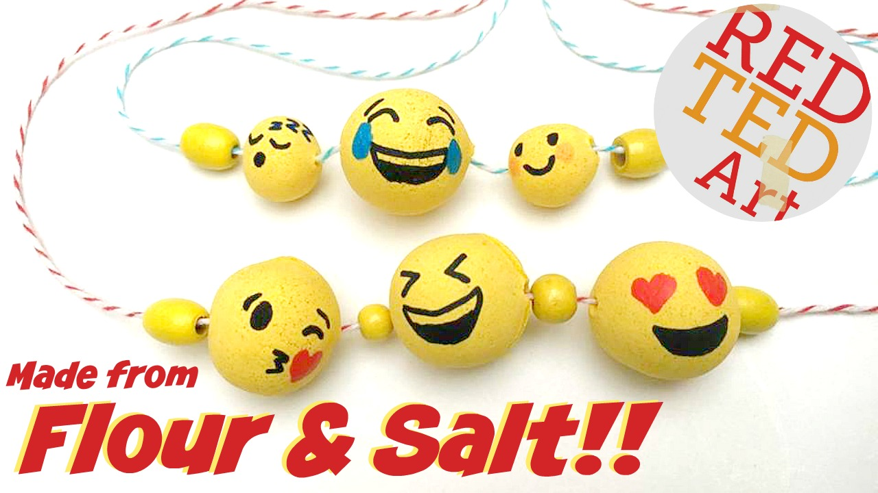 Fathers Day Salt Dough Beads Emoji