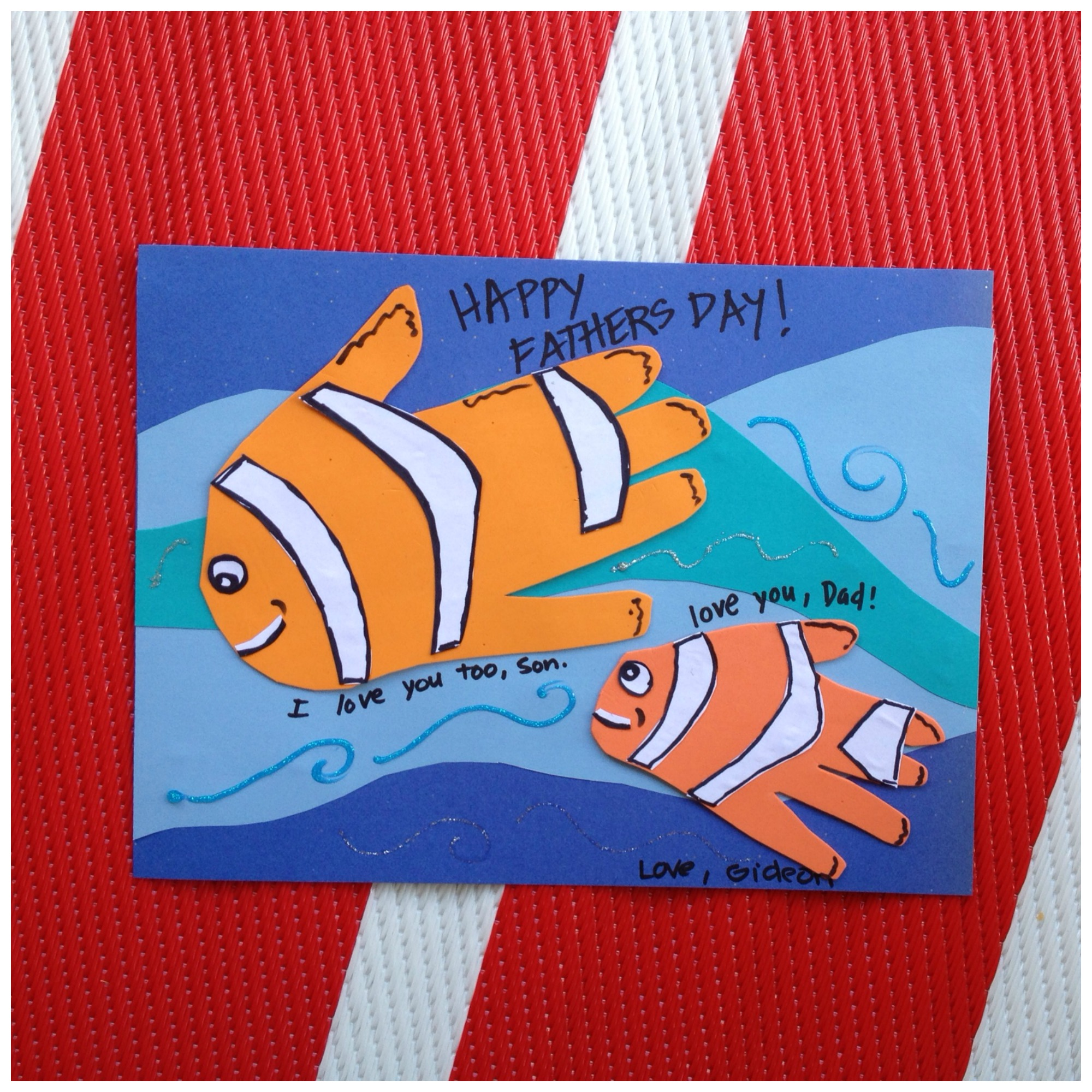 Fish Hand-print Fathers Day Craft