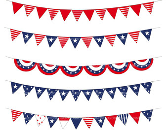 Fourth of July Clipart Banner